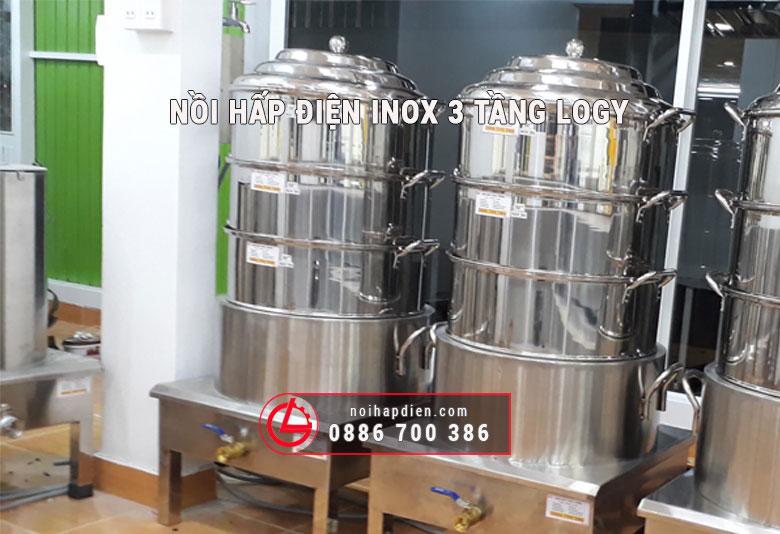 nồi hấp điện inox 3 tầng LOGY