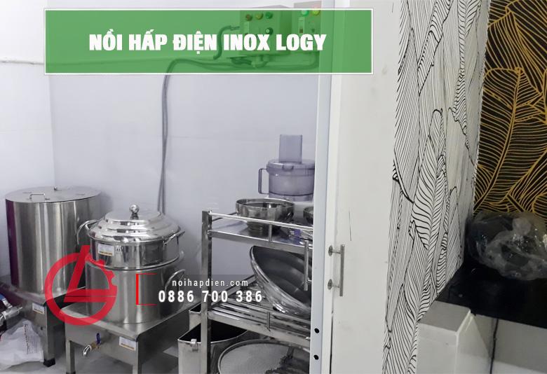 Nồi hấp điện inox Logy