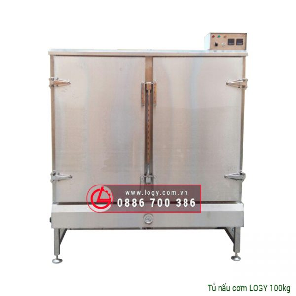 tủ hấp cơm 100 kg logy