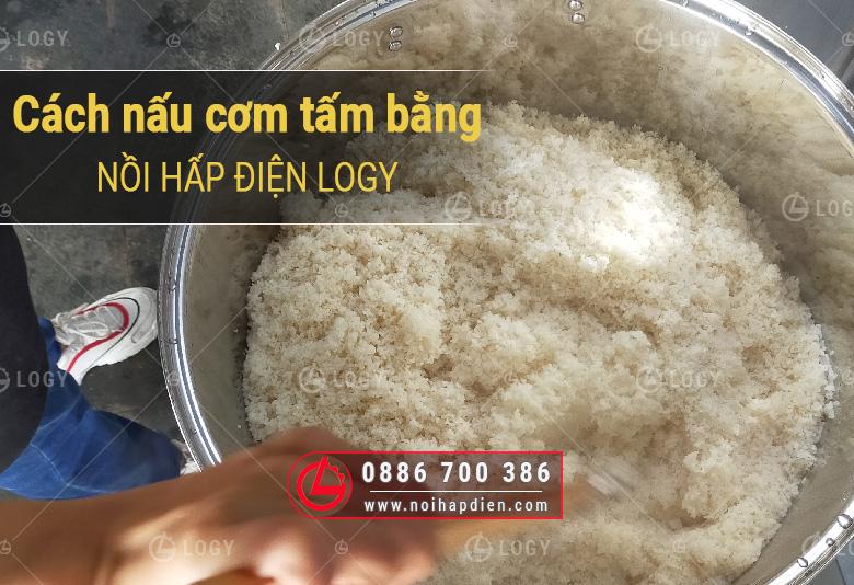 Cách nấu cơm tấm bằng nồi hấp điện